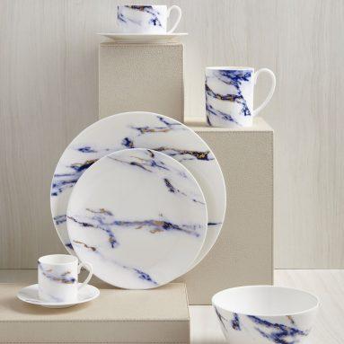 Prouna Marble Azure One 4-Piece Place Setting