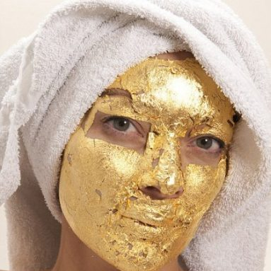 Pure 24k Gold Leaf Skin Care Mask