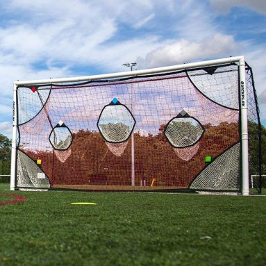 QuickPlay PRO Soccer Goal Target Nets 7 Scoring Zones – Practice Shooting & Goal Shots