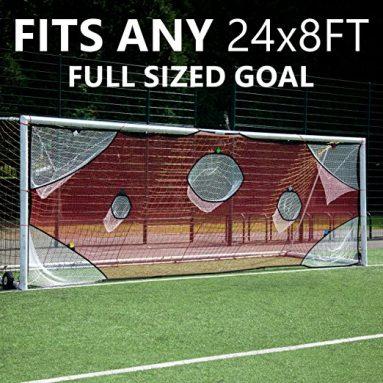 QuickPlay PRO Soccer Goal Target Nets with 7 Scoring Zones – Practice Shooting & Goal Shots