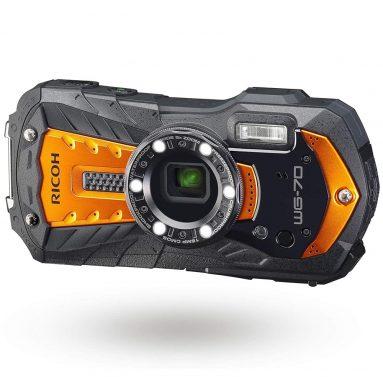 RICOH WG-70 Orange Waterproof Digital Camera