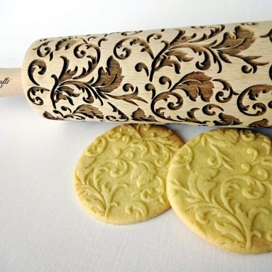 ROYAL Rolling pin Wooden engraved rolling pin