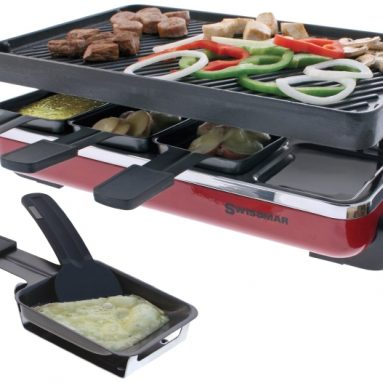 8 Person Raclette with Reversible Cast Iron Grill/Griddle Plate