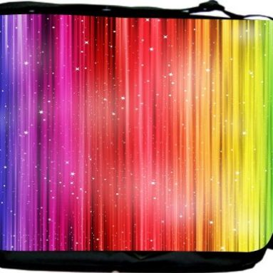 Rainbow Striped Bards Messenger Bag