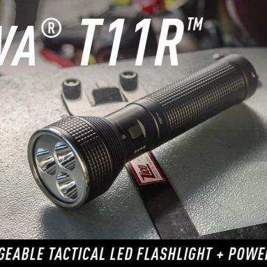 Rechargeable Tactical Power Bank Long Range Waterproof Flashlight