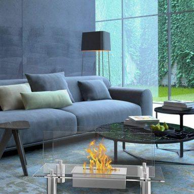 Regal Flame Delano Ventless Free Standing Bio Ethanol Fireplace
