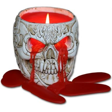 Resin Candle Holder with Halloween Wax Candle