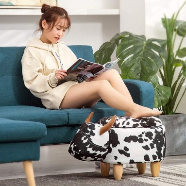 Ride-On Ottoman Footrest Stool with Vivid Adorable Animal