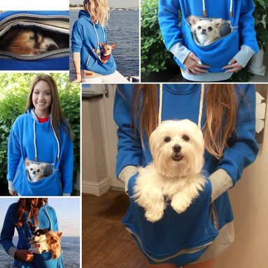 Roodie Pet Pouch Hoodie – Small Cat Dog Carrier Holder Sweatshirt