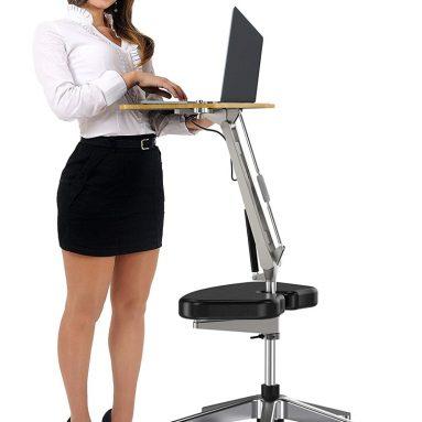 RoomyRoc Standing Desk with Height Adjustable Footrest