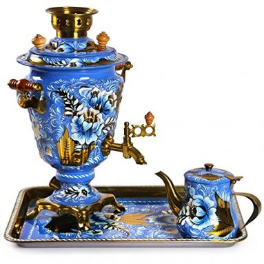 Russian Samovar Tea Maker Set with Tray & Teapot