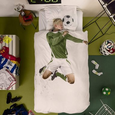 Soccer Player Duvet Cover and Pillowcase Set