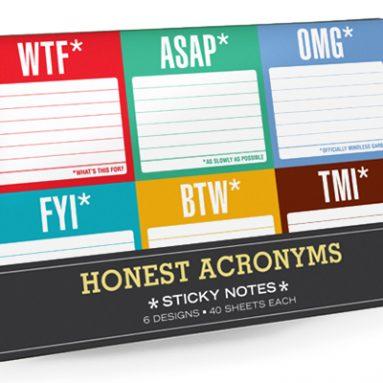 HONEST ACRONYMS GIFT SET