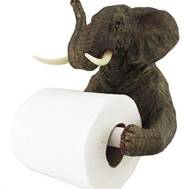 Safari Elephant Holding Toilet Tissue Paper