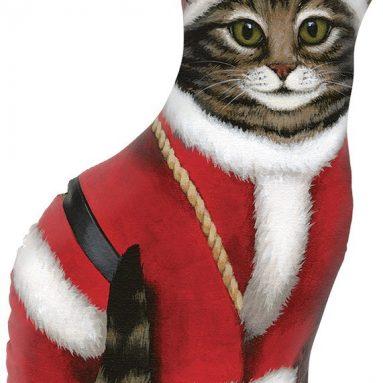 Santa Claus Cat Door Stop