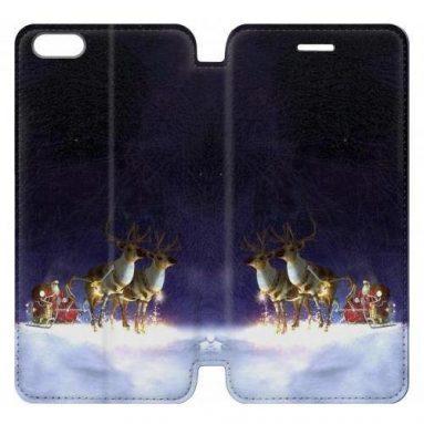 Santa Claus Merry Christmas Flip Case Cover For IPHONE 7 PLUS