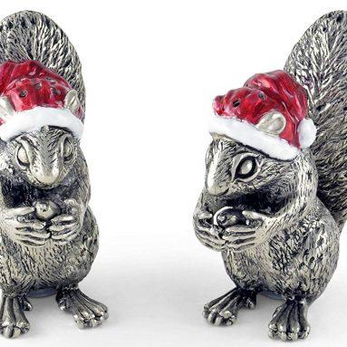Santa Squirrels Salt and Pepper Shaker Set