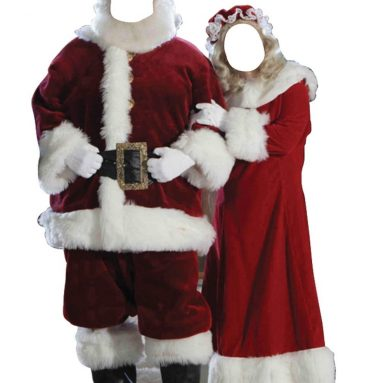 Santa and Mrs. Claus Life Size Cardboard Cutout Stand-In