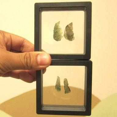 Satin Crystals Moldavite Meteorite Pair of Cosmic Love Real Green Tektite Space Rocks Premium