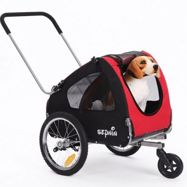 Sepnine 2 in 1 pet dog bike trailer bicycle trailer stroller jogger