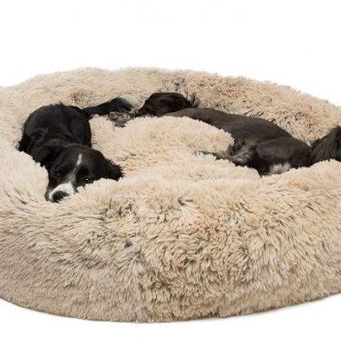 Sheri Luxury Shag Fuax Fur Donut Cuddler