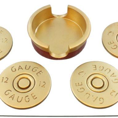 Shotgun Shot Shell Coaster Set