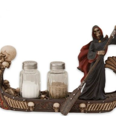 Skull Boat Salt Pepper Shakers