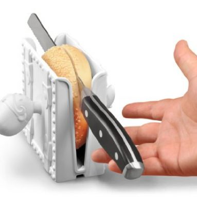 Sleight of Hand for Slicing Bagels