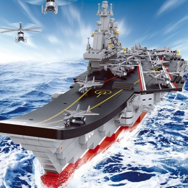 Sluban Building Blocks 1450 Aircraft Carrier Plan Liaoning Compatible