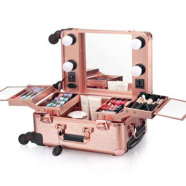 Small LED Makeup Train Case