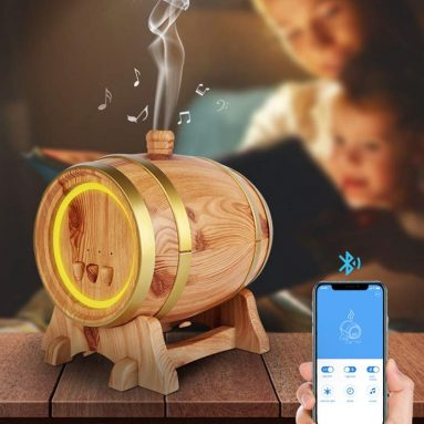 Smart App Humidifier, Aromatherapy Purifier 350 Ml USB Ultrasonic Portable Colorful Bluetooth Music