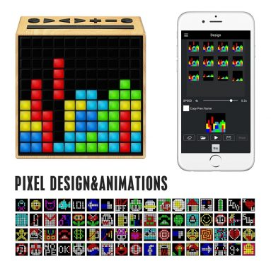 Smart Portable Bluetooth LED Speaker with APP-Controlled Pixel Art Animation
