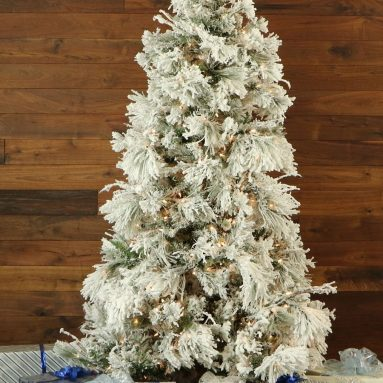 Snowy Pine Christmas Tree with Smart String Lighting