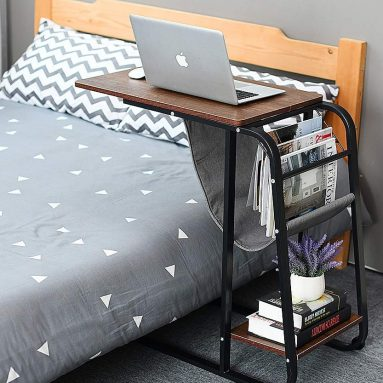 Sofa Side Table Wheel Mobile Computer Desk