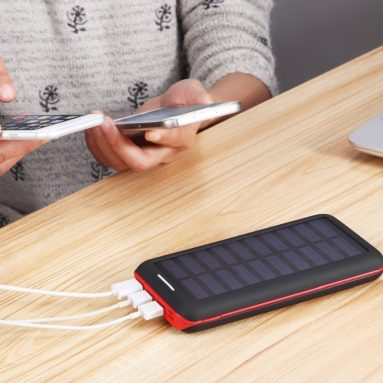 Solar Charger BERNET 24000mAh High Capacity Portable Power Bank