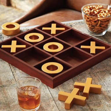 Solid Wood Tic-Tac-Toe Board Game