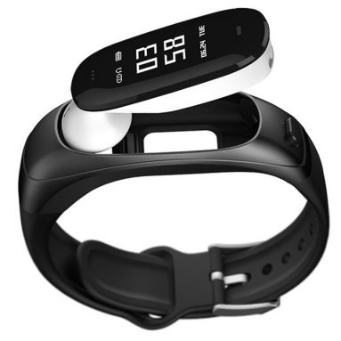 Sonic V08 activity tracker with detachable bluetooth earpiece