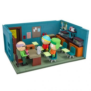 South Park Mr. Garrison Kyle and Cartman with the Classroom Large Construction Set