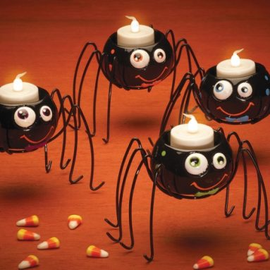 Spider Halloween Tealight Holders