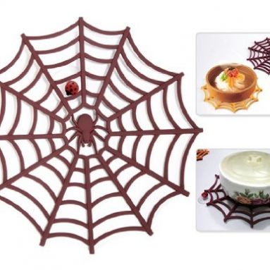 Spider Web Design Silicone Insulation Table Pad