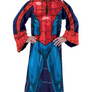 Spiderman-Blue on Blue Adult Fleece Panel Print Comfy Throw
