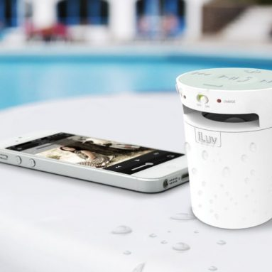 Splash-Resistant Wireless Bluetooth Speaker and Speakerphone