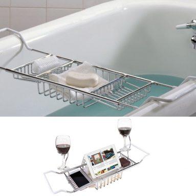 Stainless Steel Over Bath Tub Racks Shower Organizer Bathtub Caddy Tray