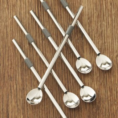 Stainless-Steel Straw Spoons