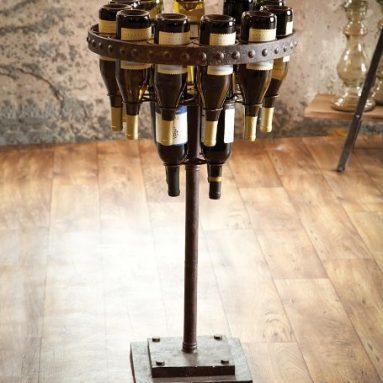 Standing Metal Wine Rack
