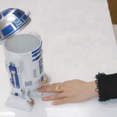 Star Wars R2D2 Figure Desktop Trash Can