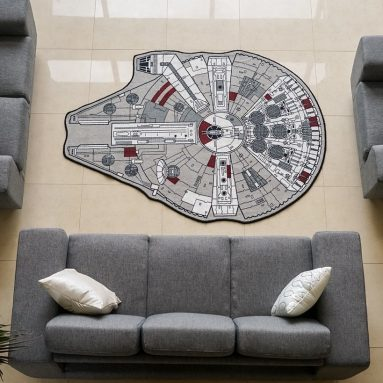 Star Wars X-Large Millennium Falcon Rug