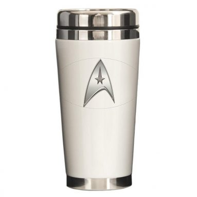 StarTrek Command Silver Signi Ceramic Travel Mug