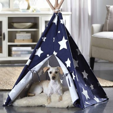 Stars Printed Pet Teepee