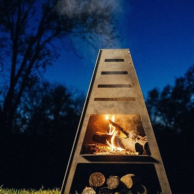 Steel Fire Pit Charcoal Grill Metal Chiminea
